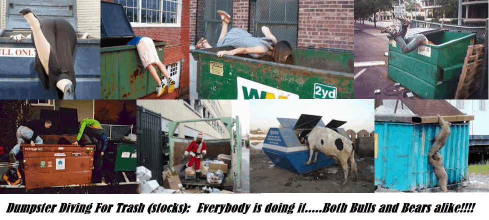 dumpster diving for trash stocks