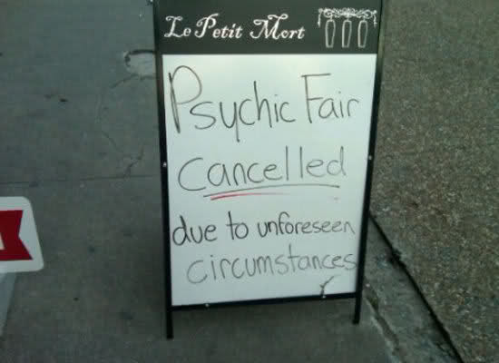 psychic fair cancelled