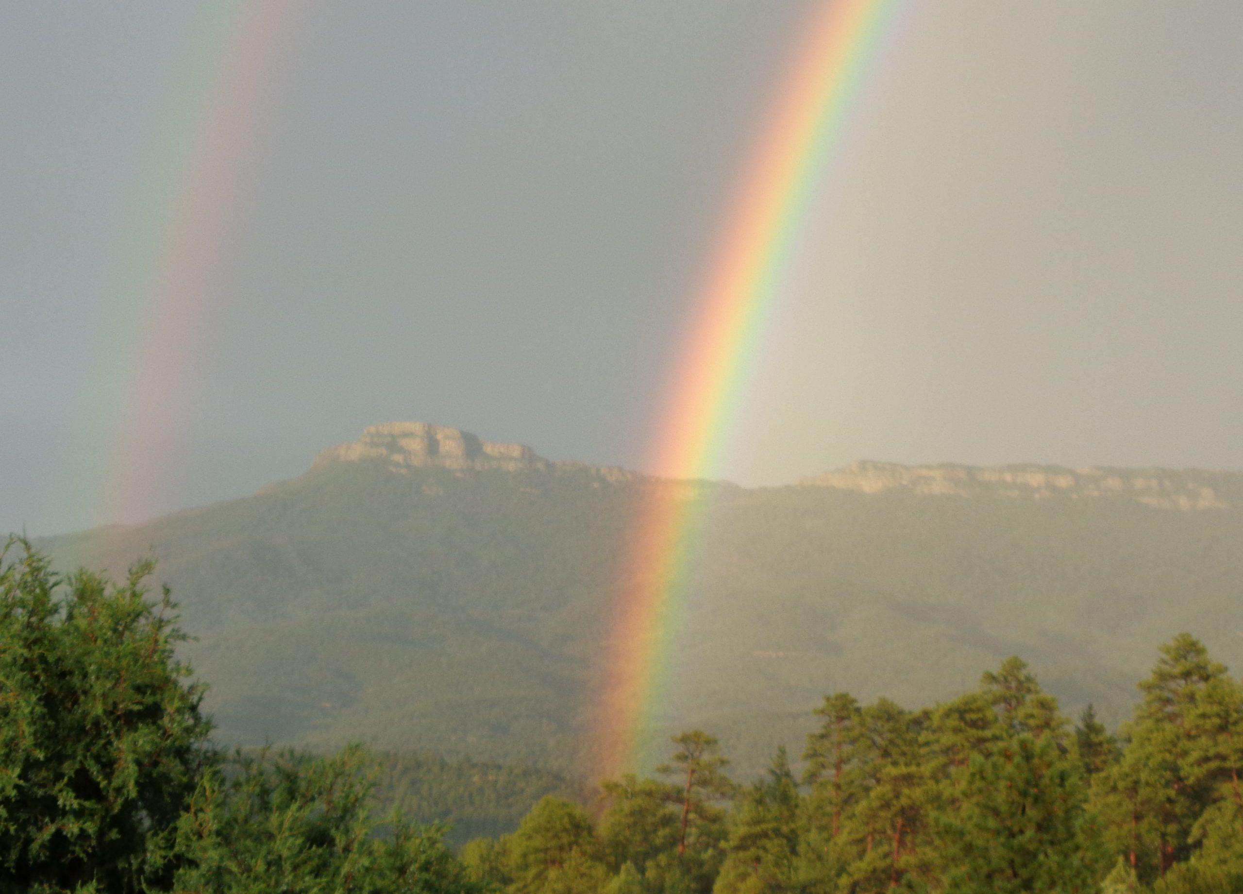 Rainbow over Fisher's Peak