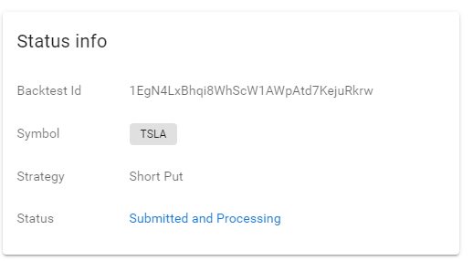 Submit status info